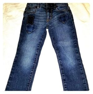 Girls Jean's with patches 5T